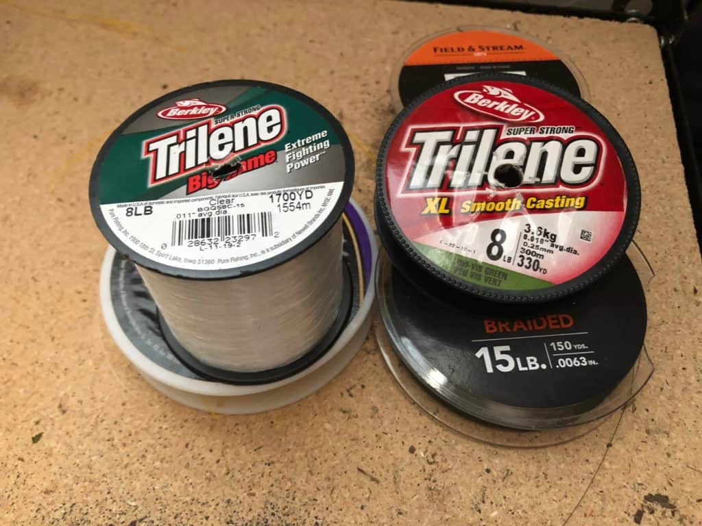 fishing line spools